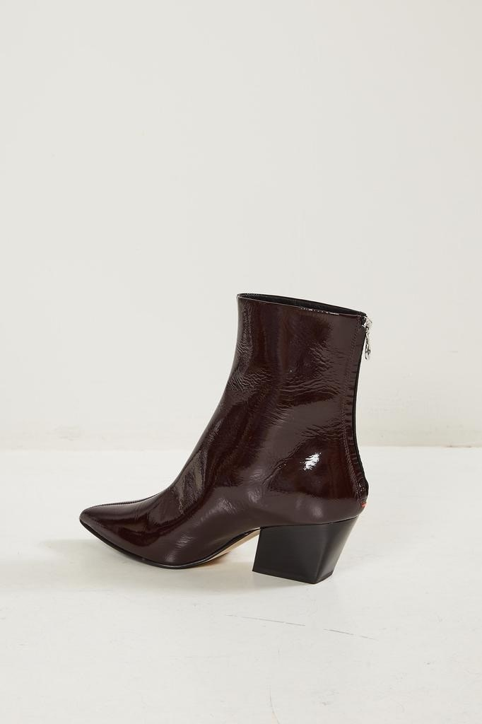 Aeyde - Aeyde pointed patent ankle boots