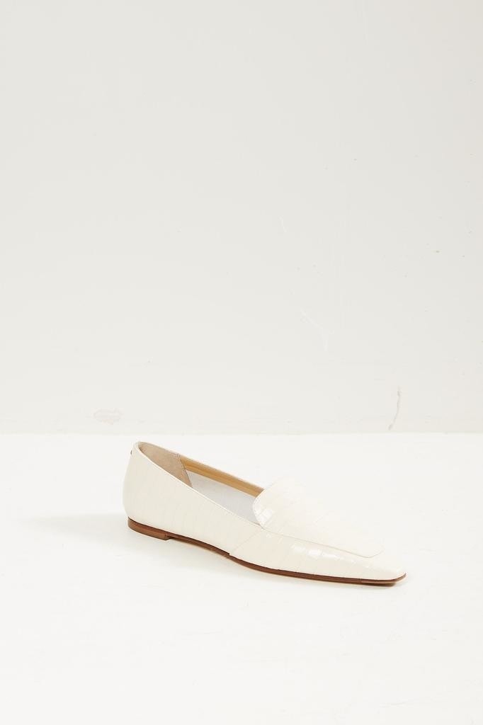 Aeyde Croc print loafers.