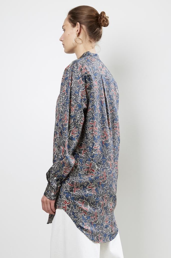 bananatime 100% silk grandad shirt rose shadows