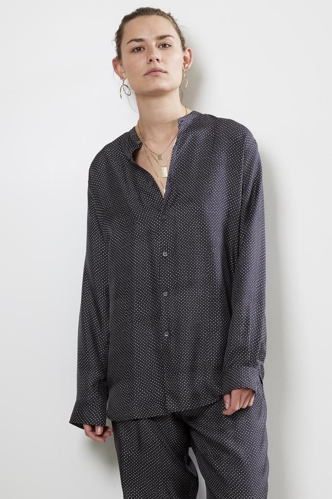 bananatime - Slim grandad shirt dots to dots