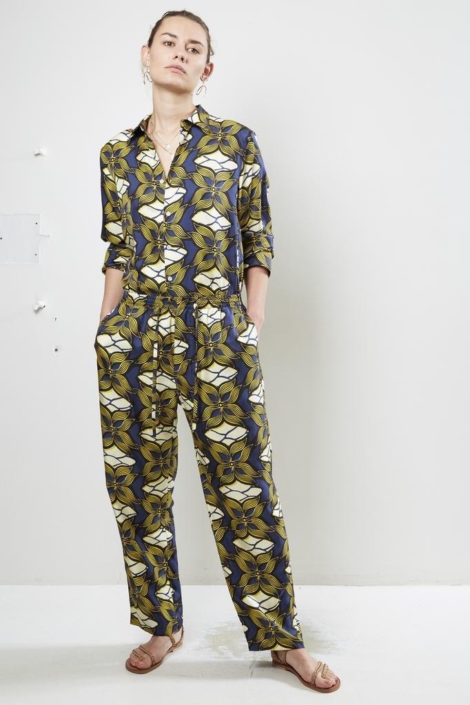 bananatime - silk digital print easy pant golden paradise