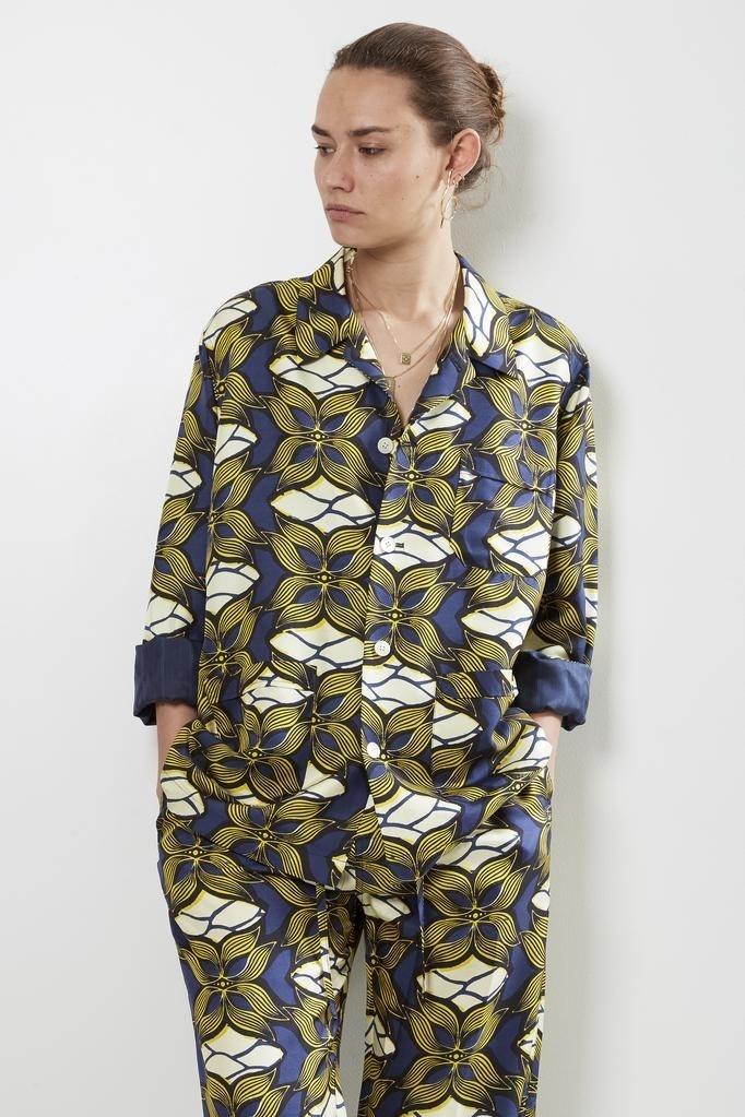 bananatime - silk printed soft jacket golden paradise