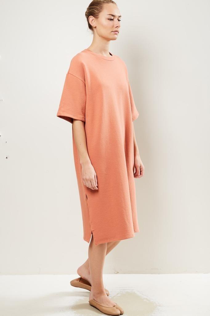 Can Pep Rey Niki oversized midi dress raw sienna