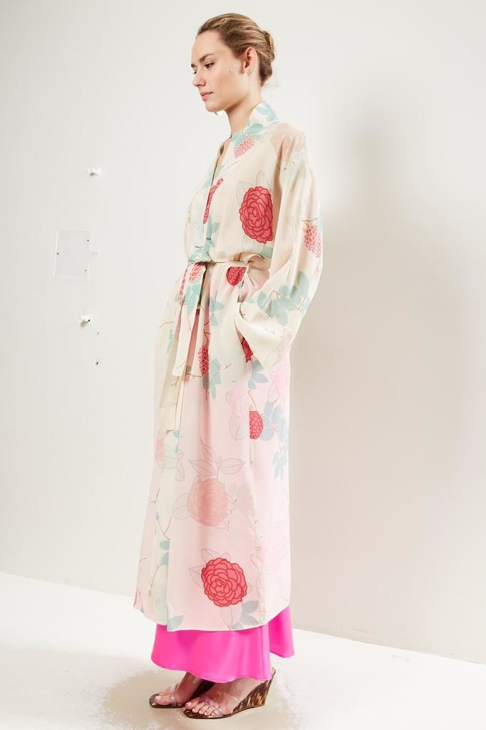 Bernadette Peignoir floral wrap dress Camelia.