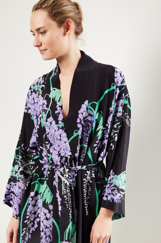 Bernadette Peignoir floral wrap dress.