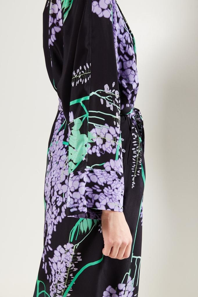 Bernadette - Peignoir floral wrap dress.