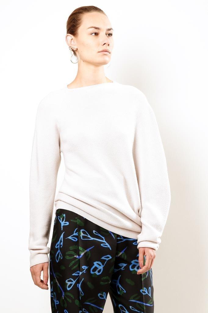 Christian Wijnants Klea fine merino wool sweater off white