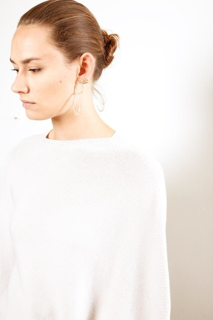 Christian Wijnants - Klea fine merino wool sweater off white