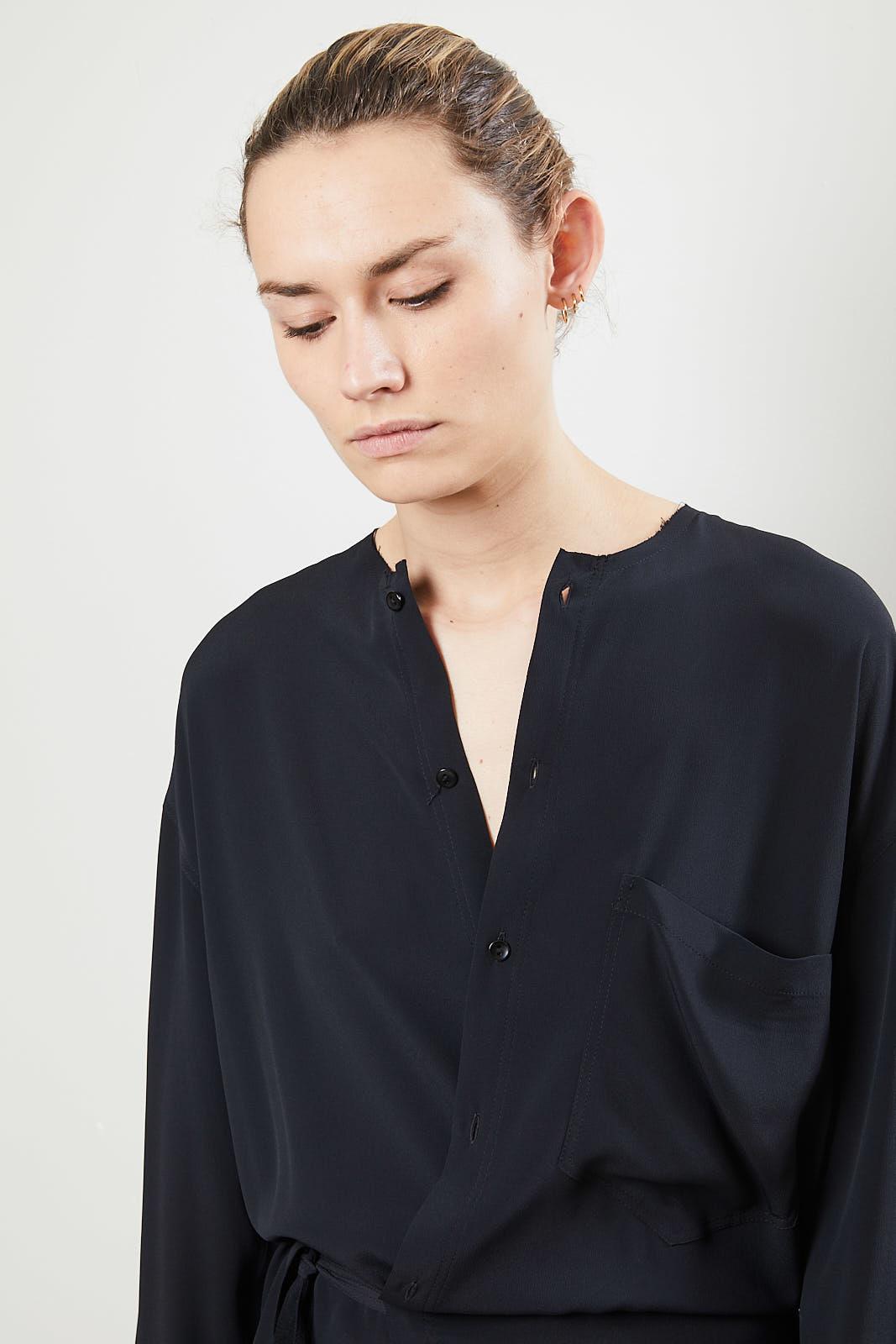 Monique van Heist - Wrapper dress black silky