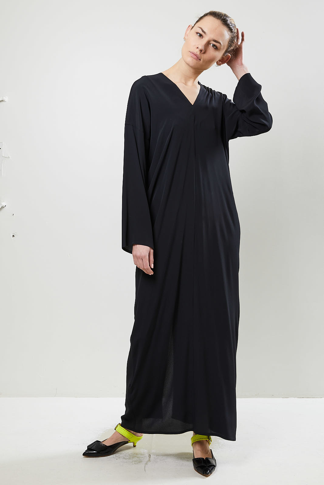 Monique van Heist - tunic silk dress black