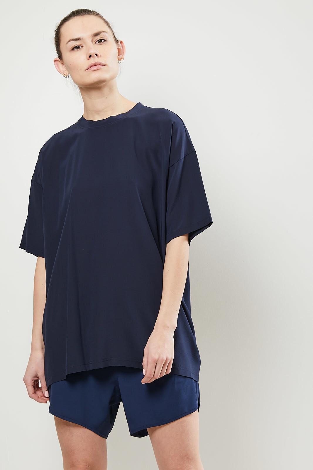 Monique van Heist LOL mini shortsleeve silk t-shirt navy