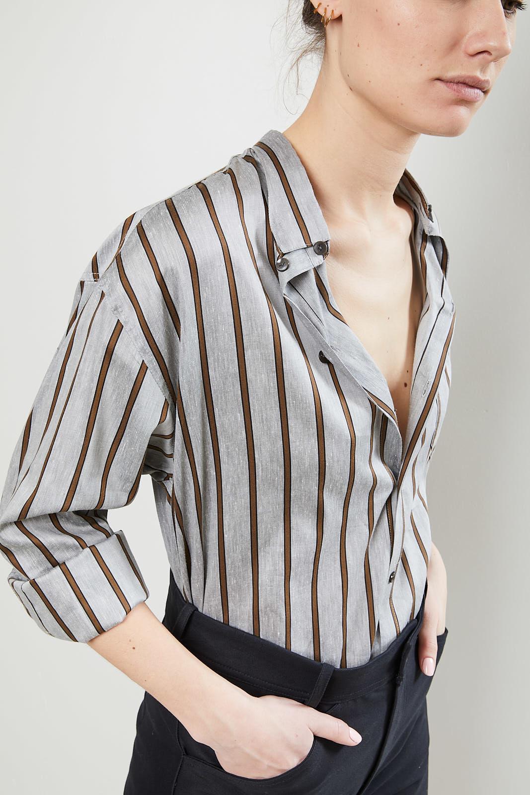 Monique van Heist No 5 daddy stripe shirt