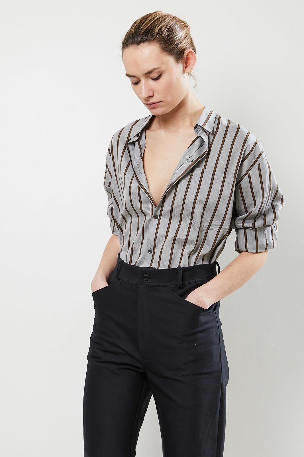 Monique van Heist - No 5 daddy stripe shirt