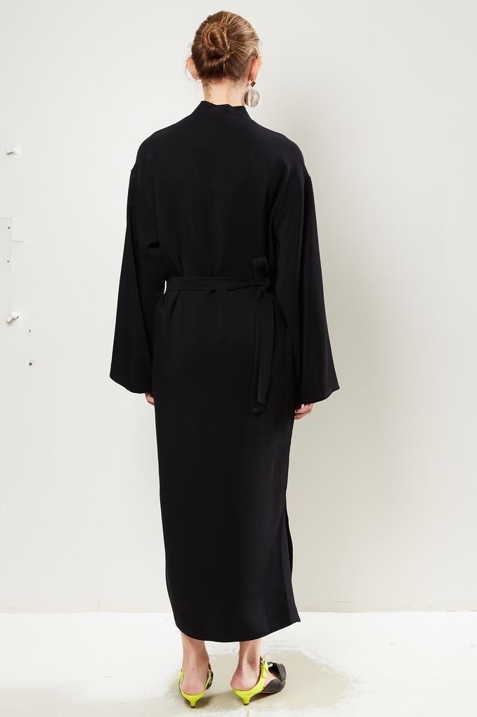 Monique van Heist Kimono black stretch coat dress