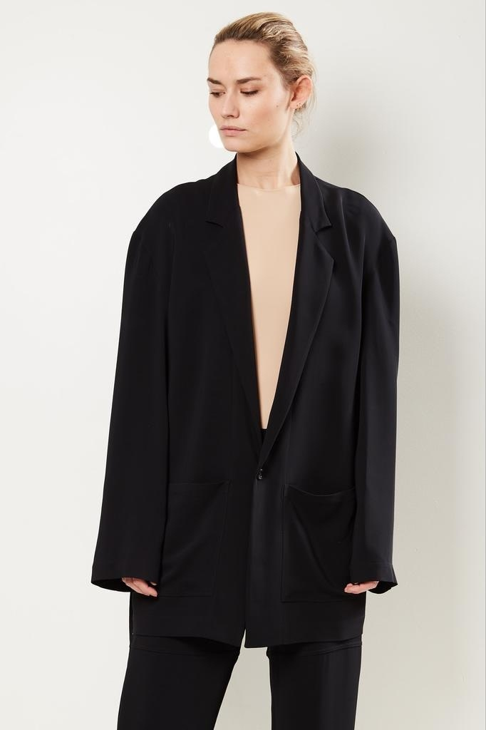 Monique van Heist - Donny black stretch coat