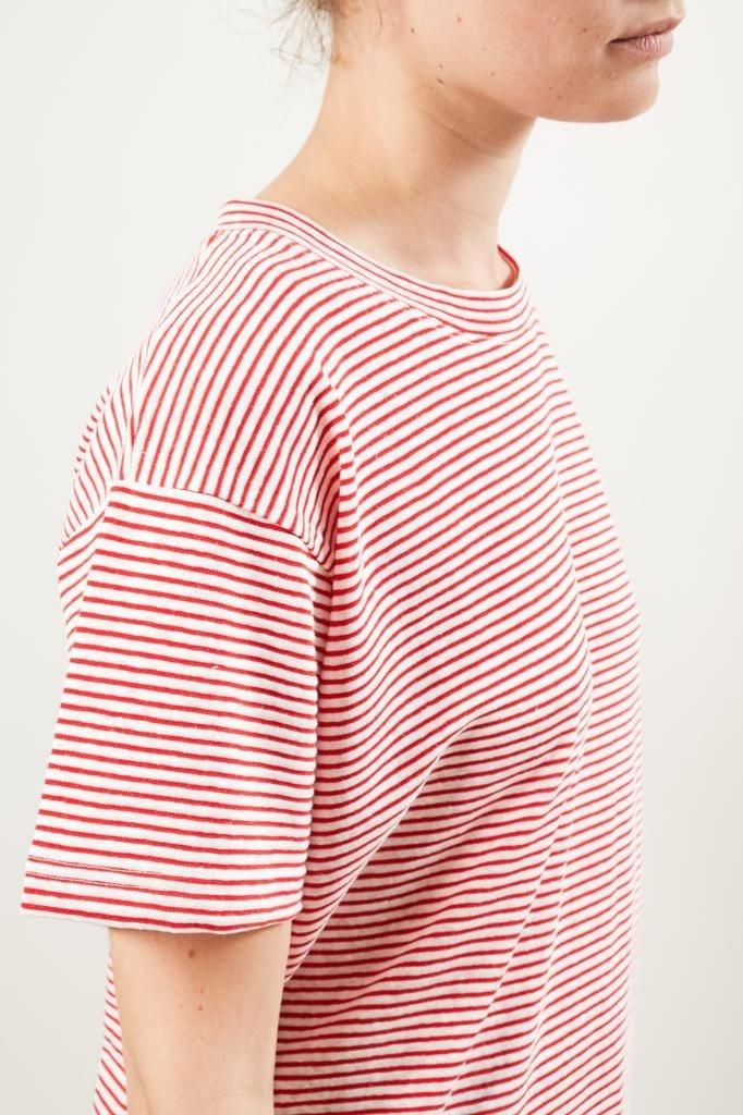 Monique van Heist - Boy stripe linen t-shirt