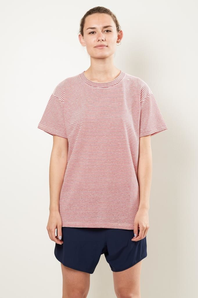 Monique van Heist Boy stripe linen t-shirt