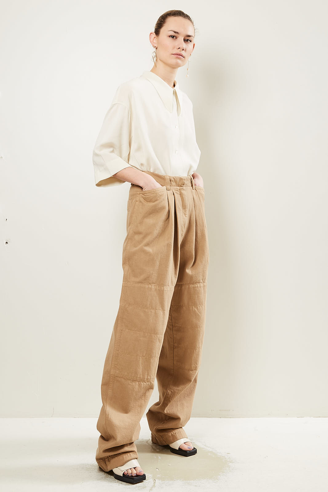Lemaire - Wide leg tailored trousers.