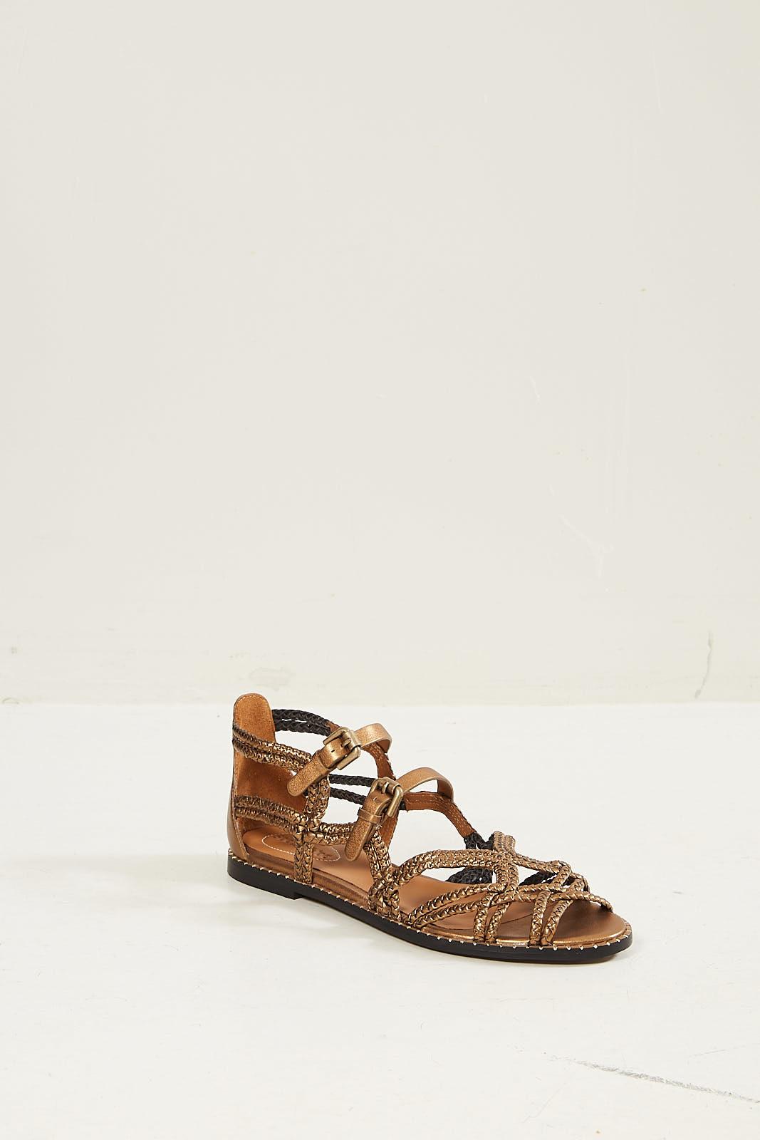 - Vigor lame vintage nappa sandals