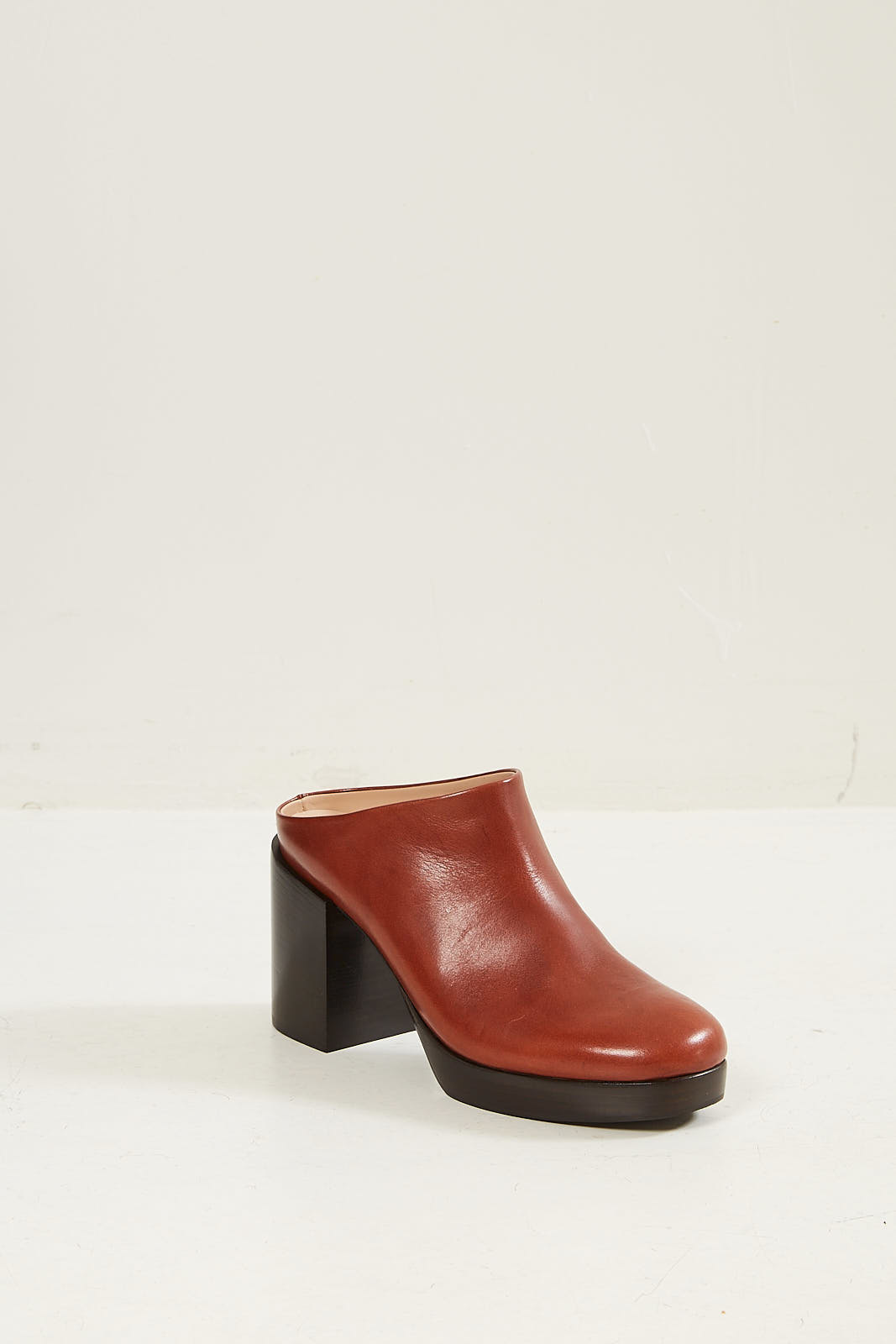 A.F. Vandevorst Leather mule cognac