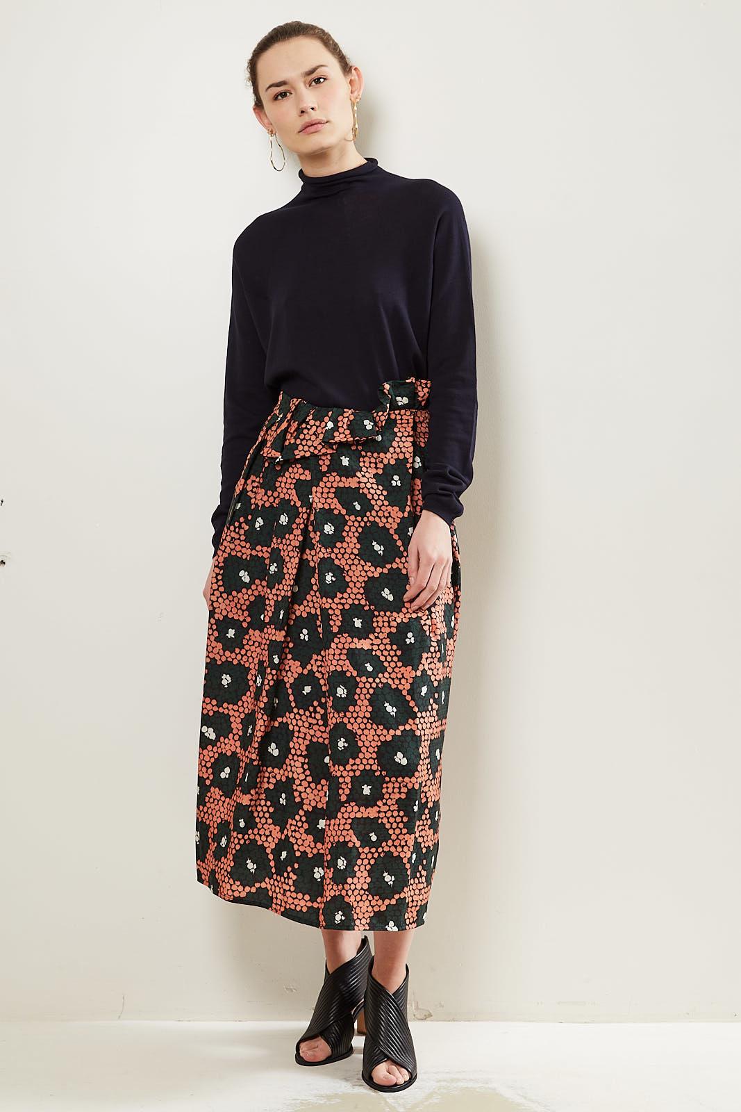Christian Wijnants Shani daisy print high waisted skirt.