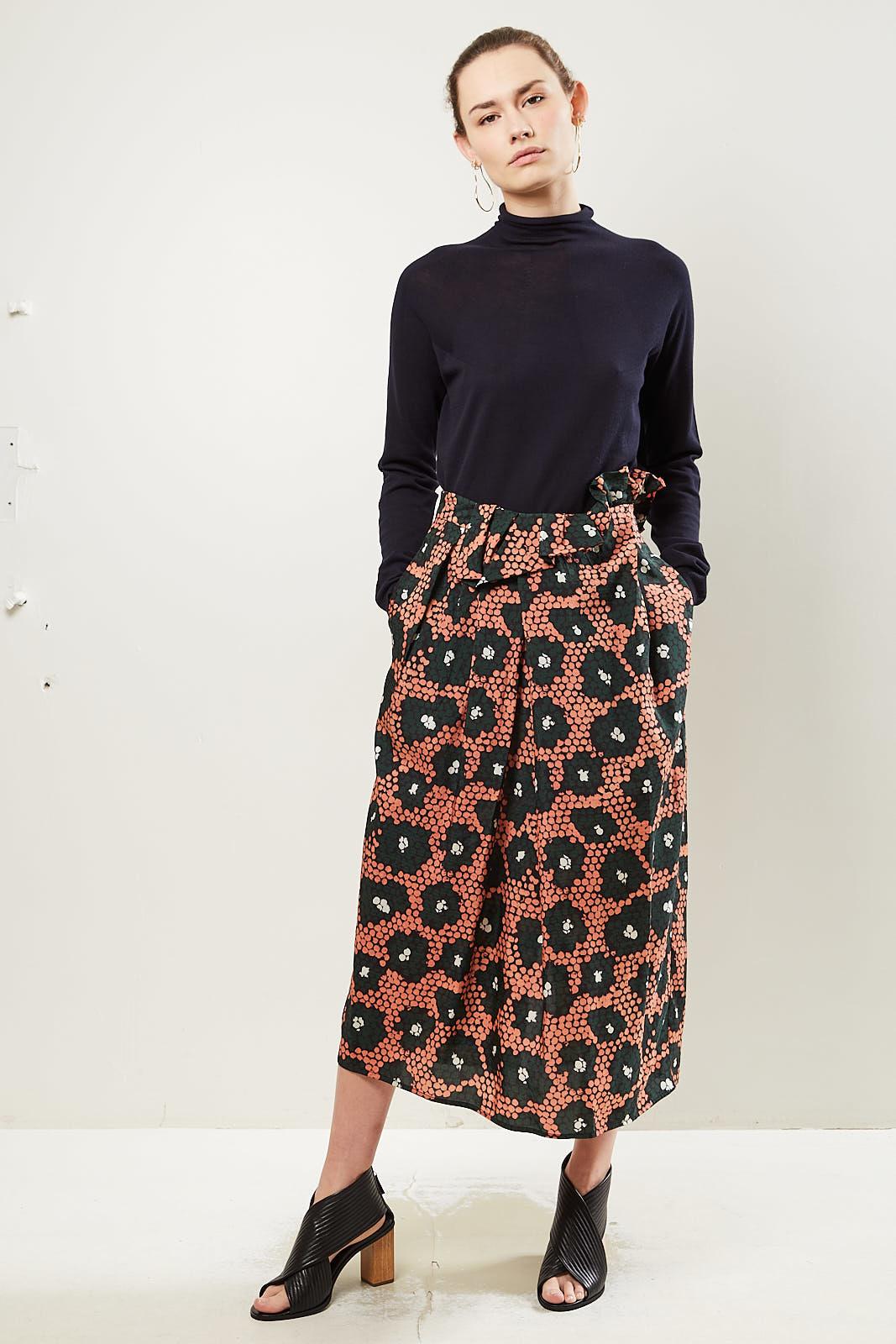 Christian Wijnants - Shani daisy print high waisted skirt.