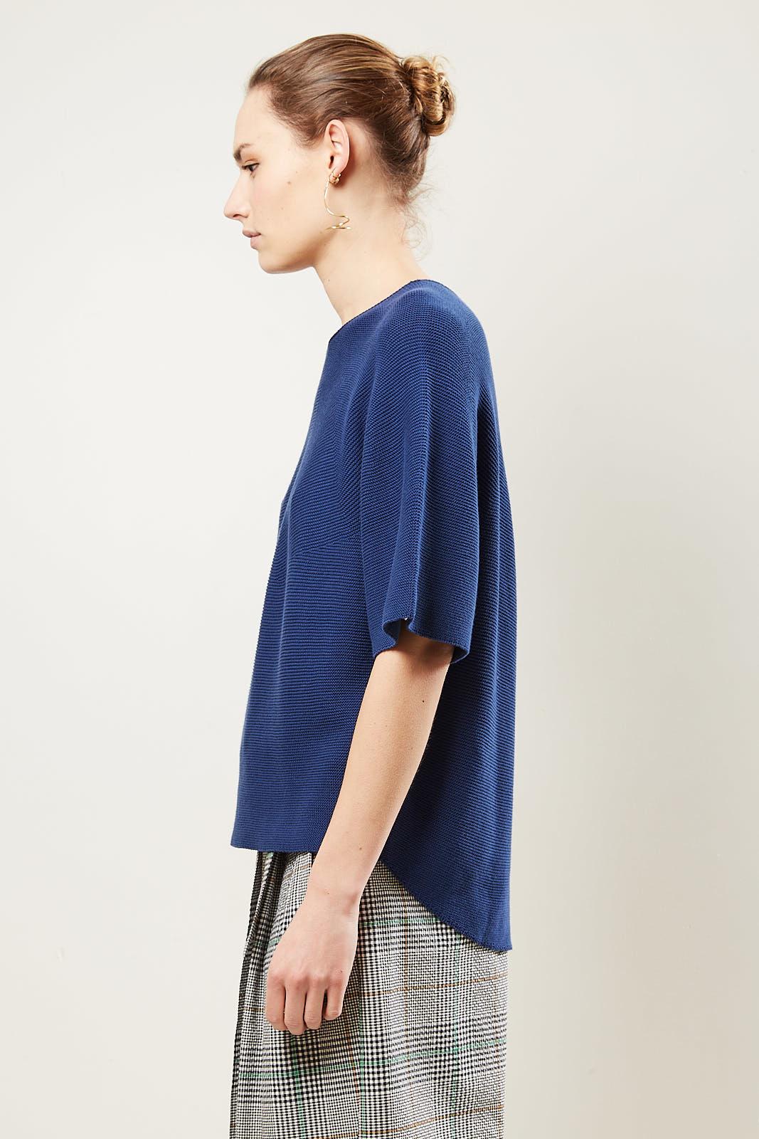 Christian Wijnants - Koda knitted top indigo.