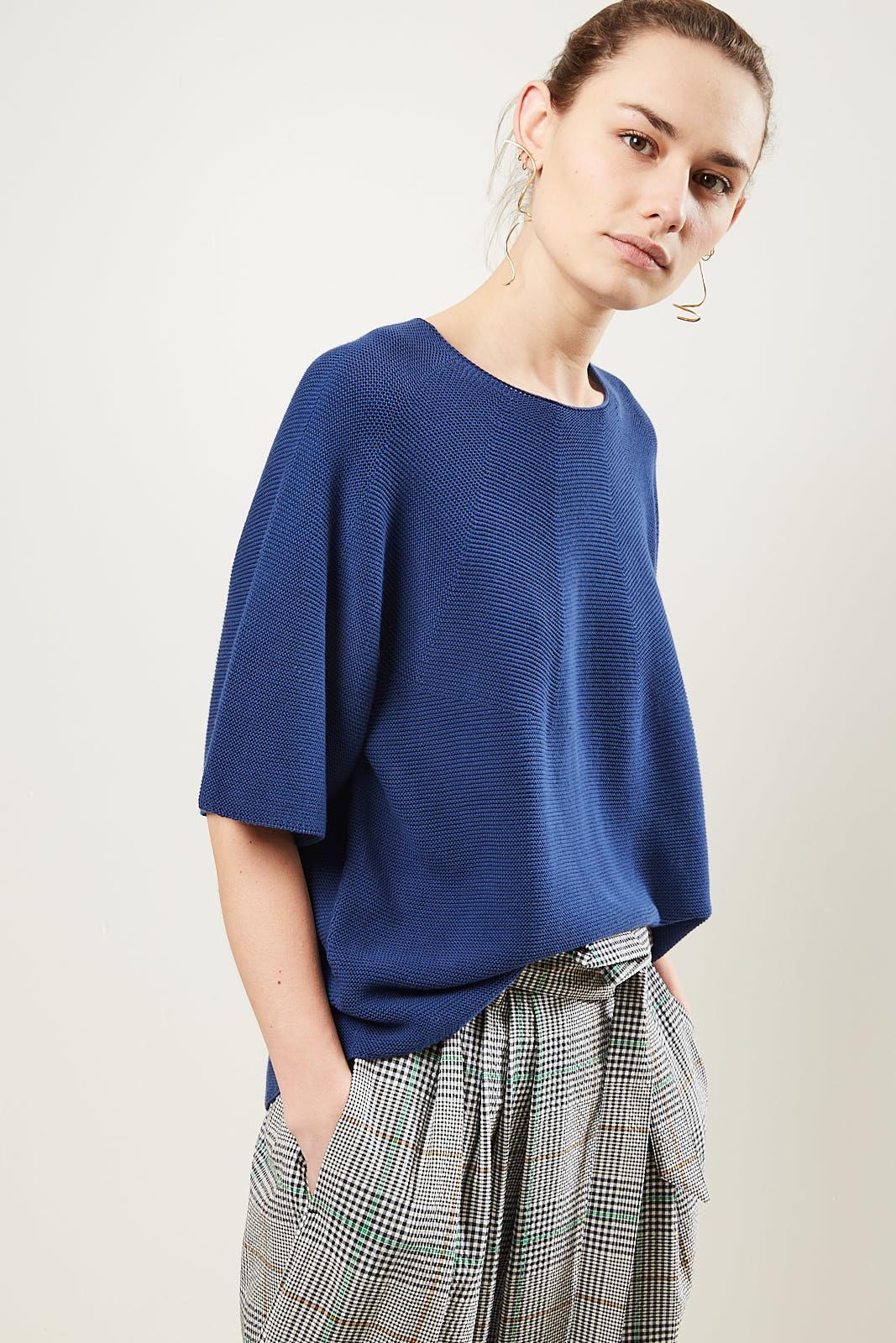 Christian Wijnants Koda knitted top indigo.