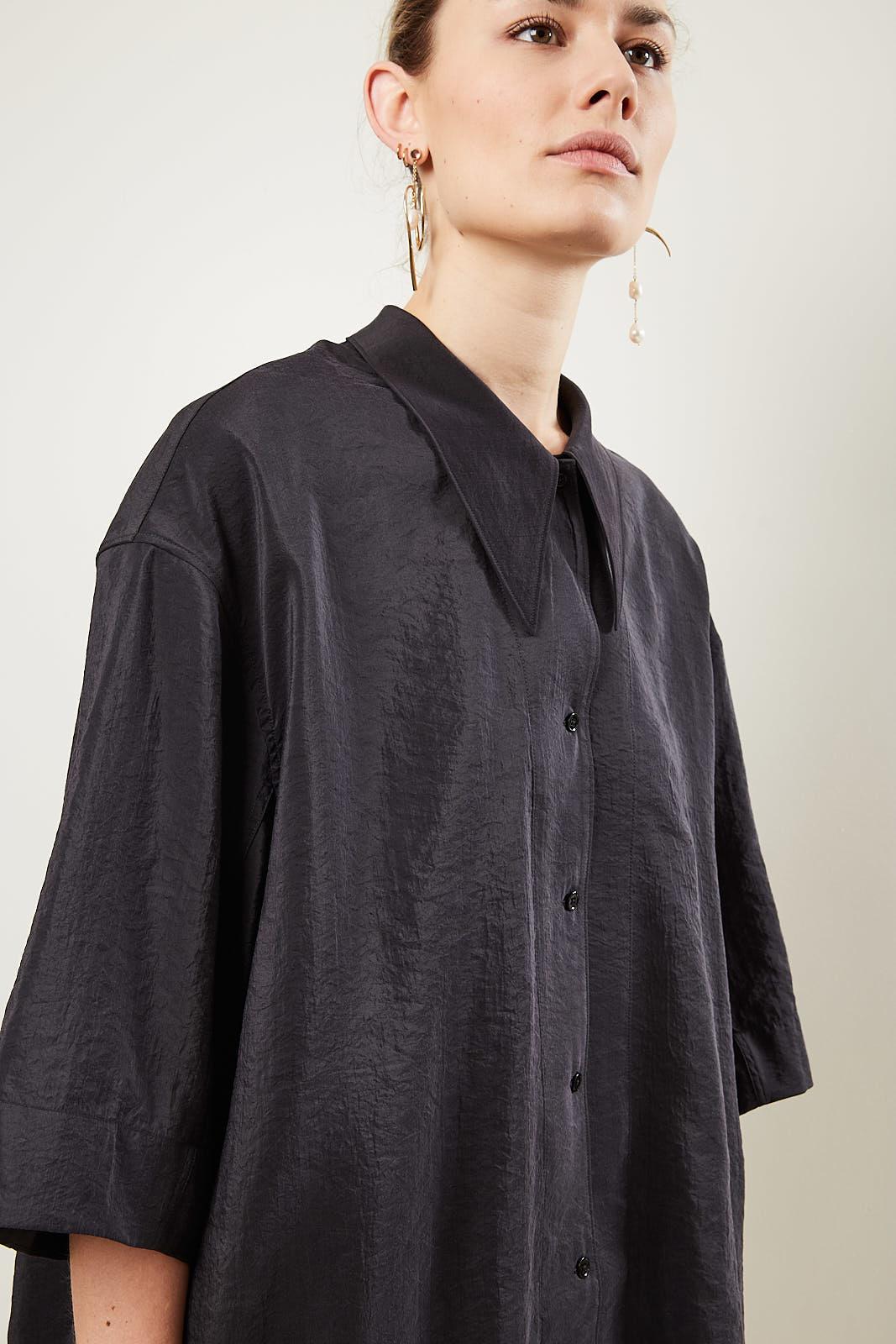 Lemaire - MAXI SHIRT 999 black
