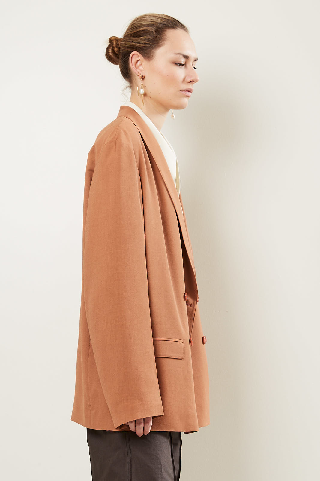 Lemaire - Double breasted jacket 466 copper
