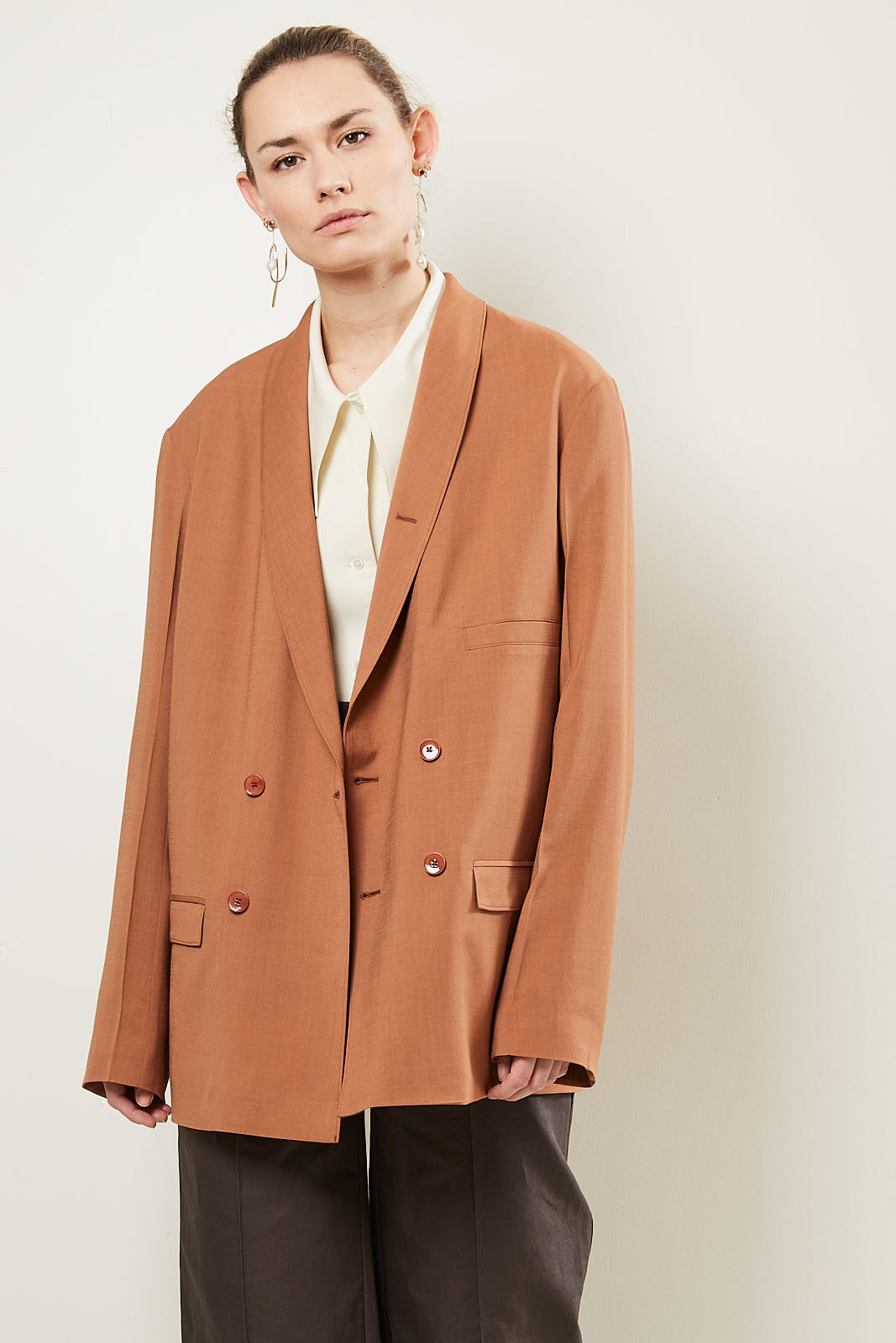 Lemaire Double breasted jacket 466 copper
