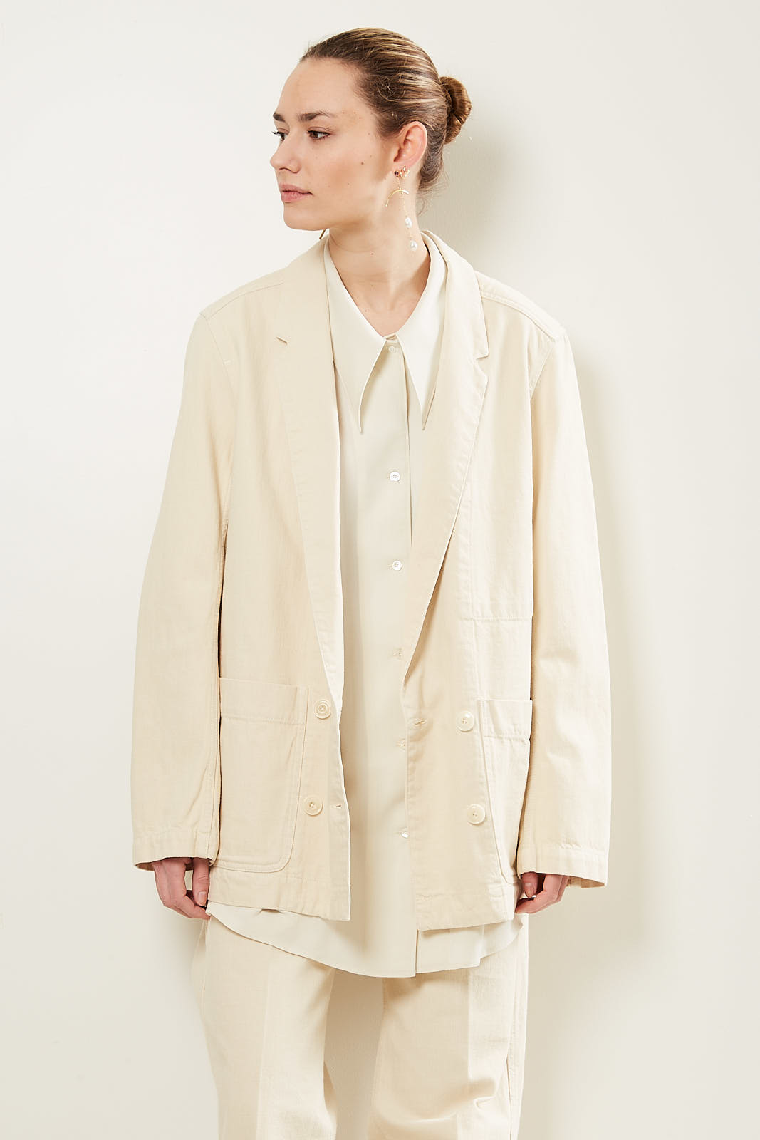 Lemaire Double breasted jacket 507 cream