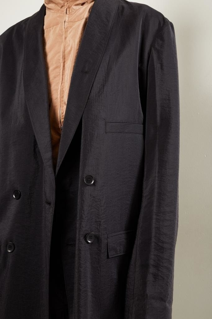Lemaire - Double breasted jacket 999 black
