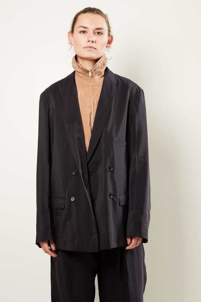 Lemaire Double breasted jacket 999 black