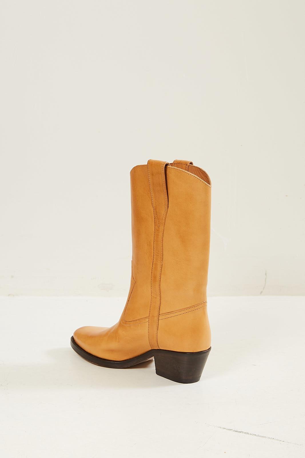 Etoile Isabel Marant - Danta leather gaucho boots natural 23nl