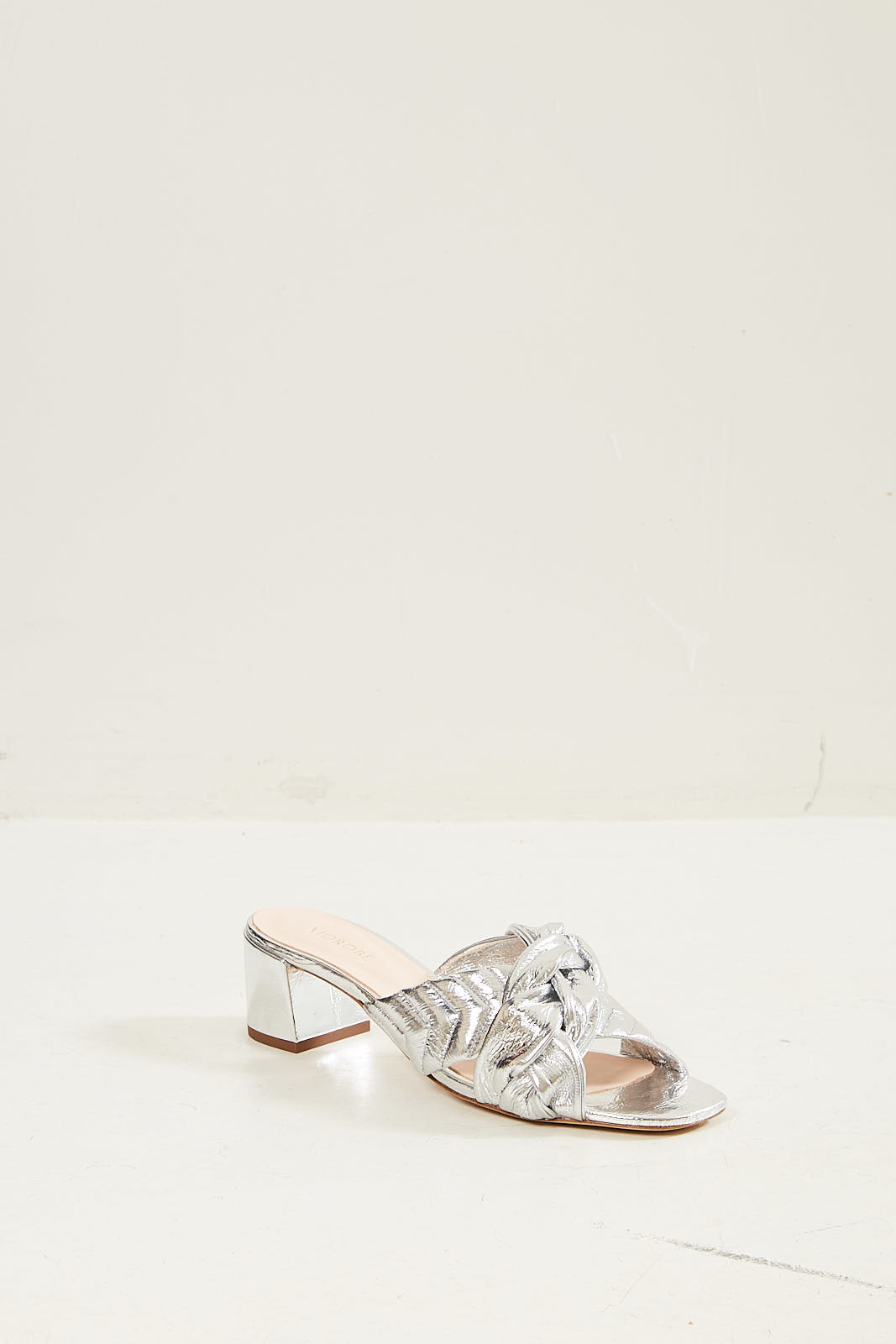 Morobé Lauranne laminated leather sandal