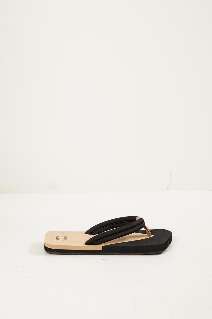Yume Yume - Xigy japanese foam flip flops beige black