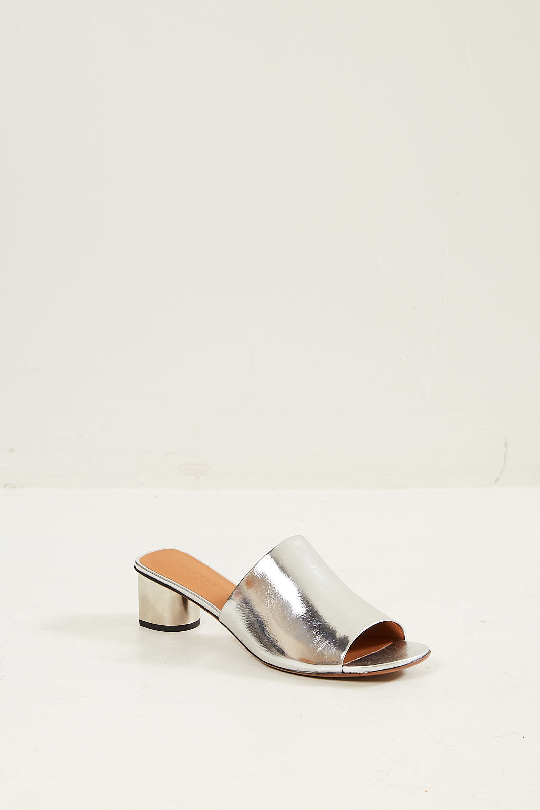 Clergerie Leo metallic slip on mules.