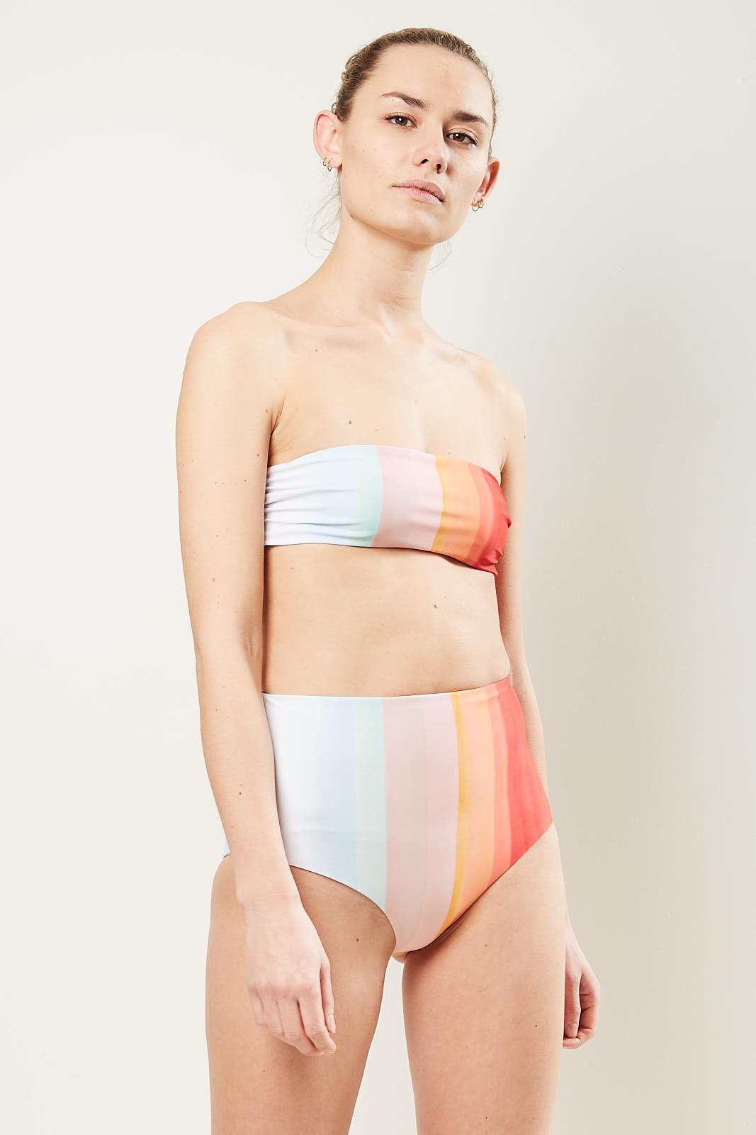 Mara Hoffman LYDIA high waisted bikini bottom vista