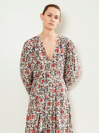 Isabel Marant Long floral print dress.