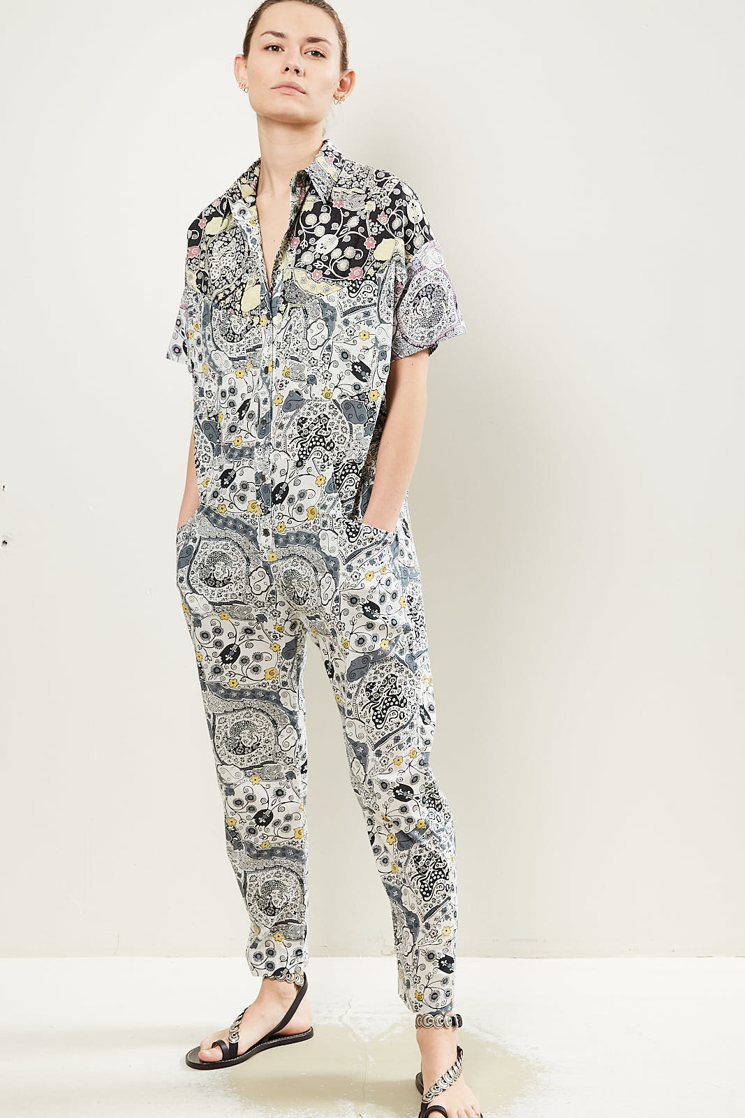 Etoile Isabel Marant Udena patchwork print overall