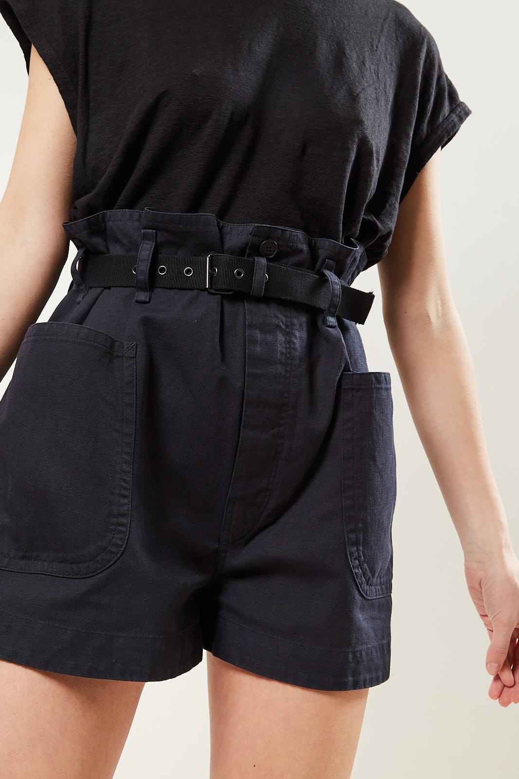 Etoile Isabel Marant - Rike cotton trench short black 02fk