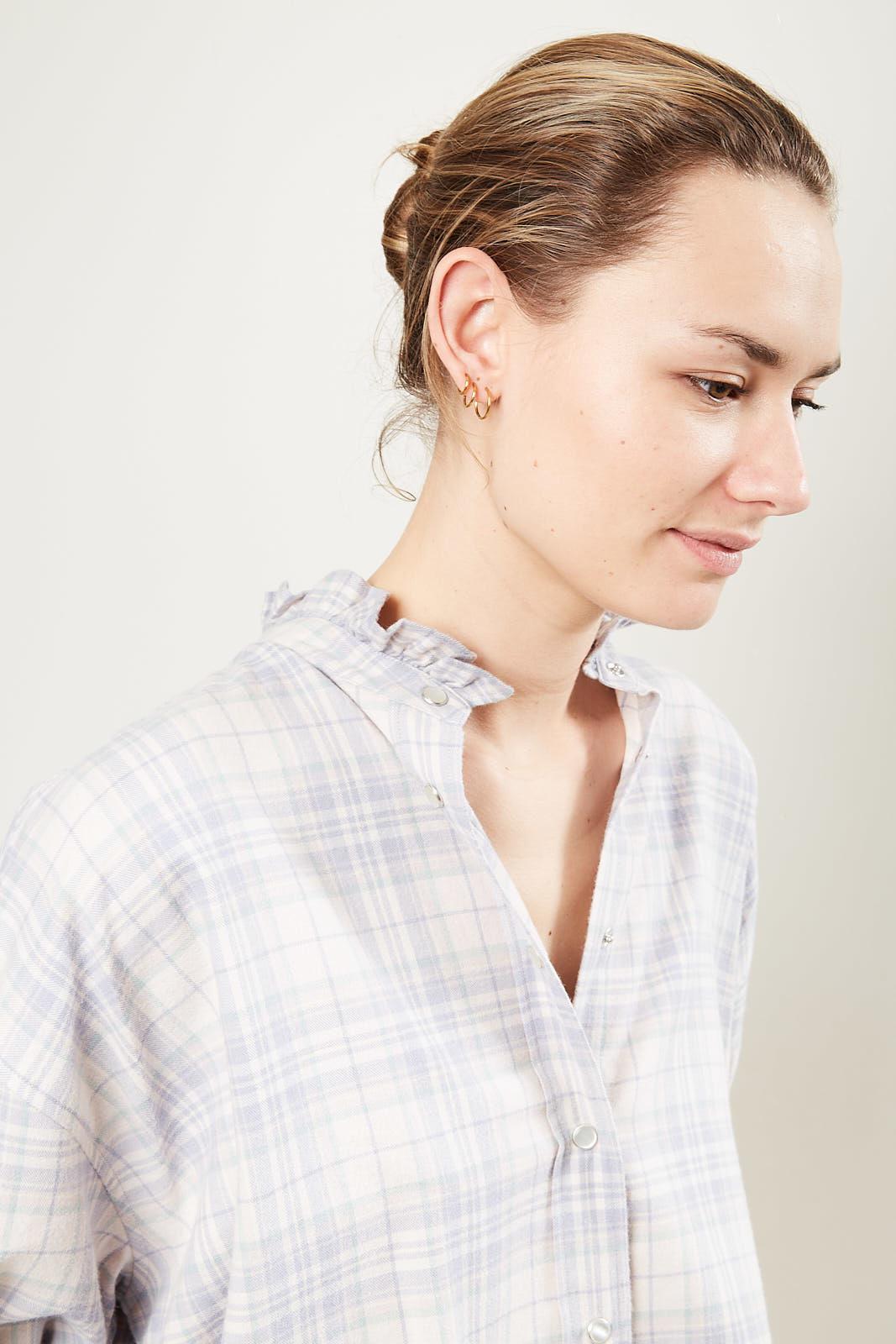 Etoile Isabel Marant Ilaria check pilou shirt