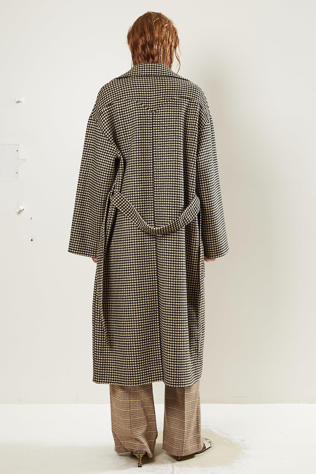 Nanushka - Alamo Double Silk Wool BlendCoat