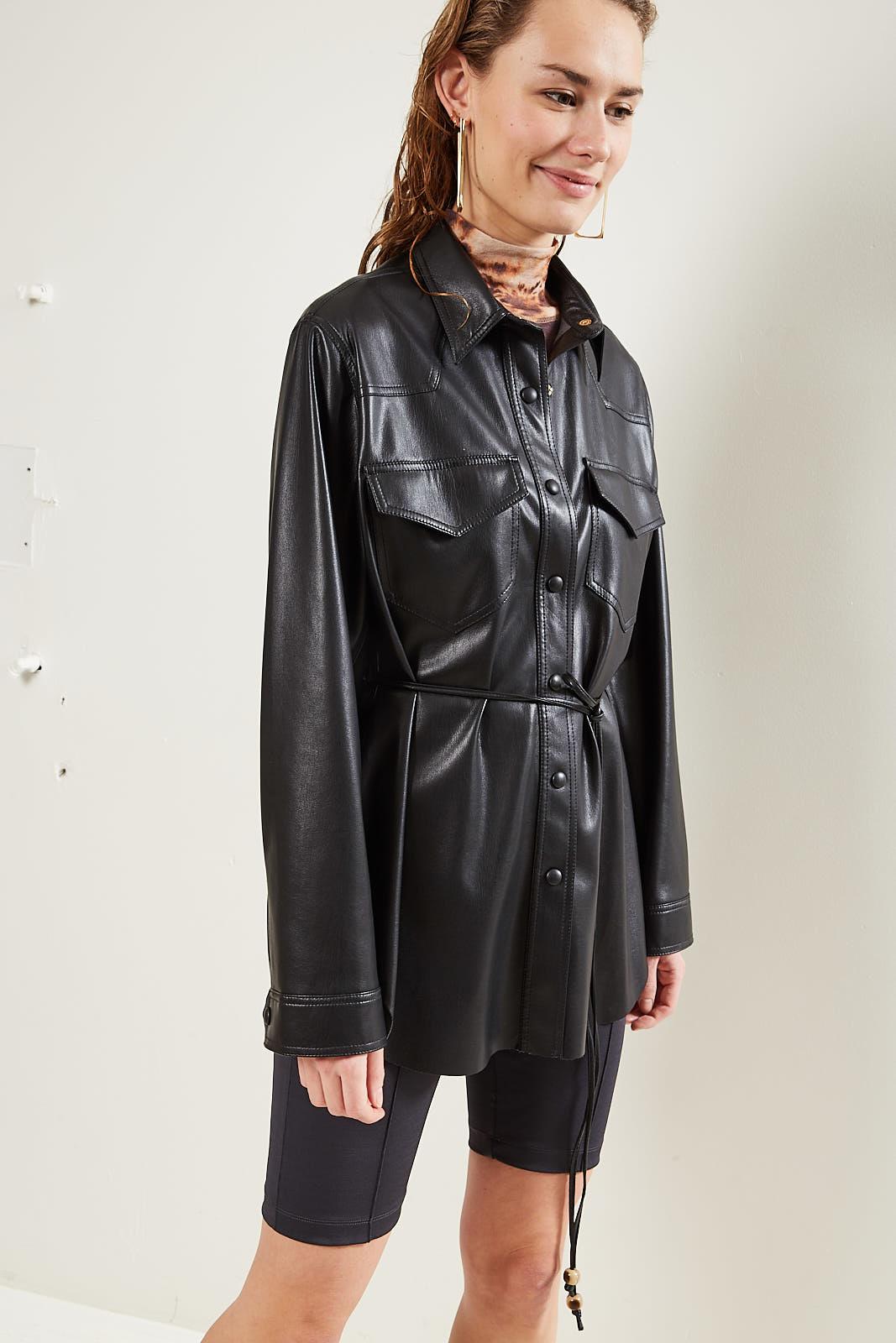 Nanushka Eddy Vegan Leather shirt black