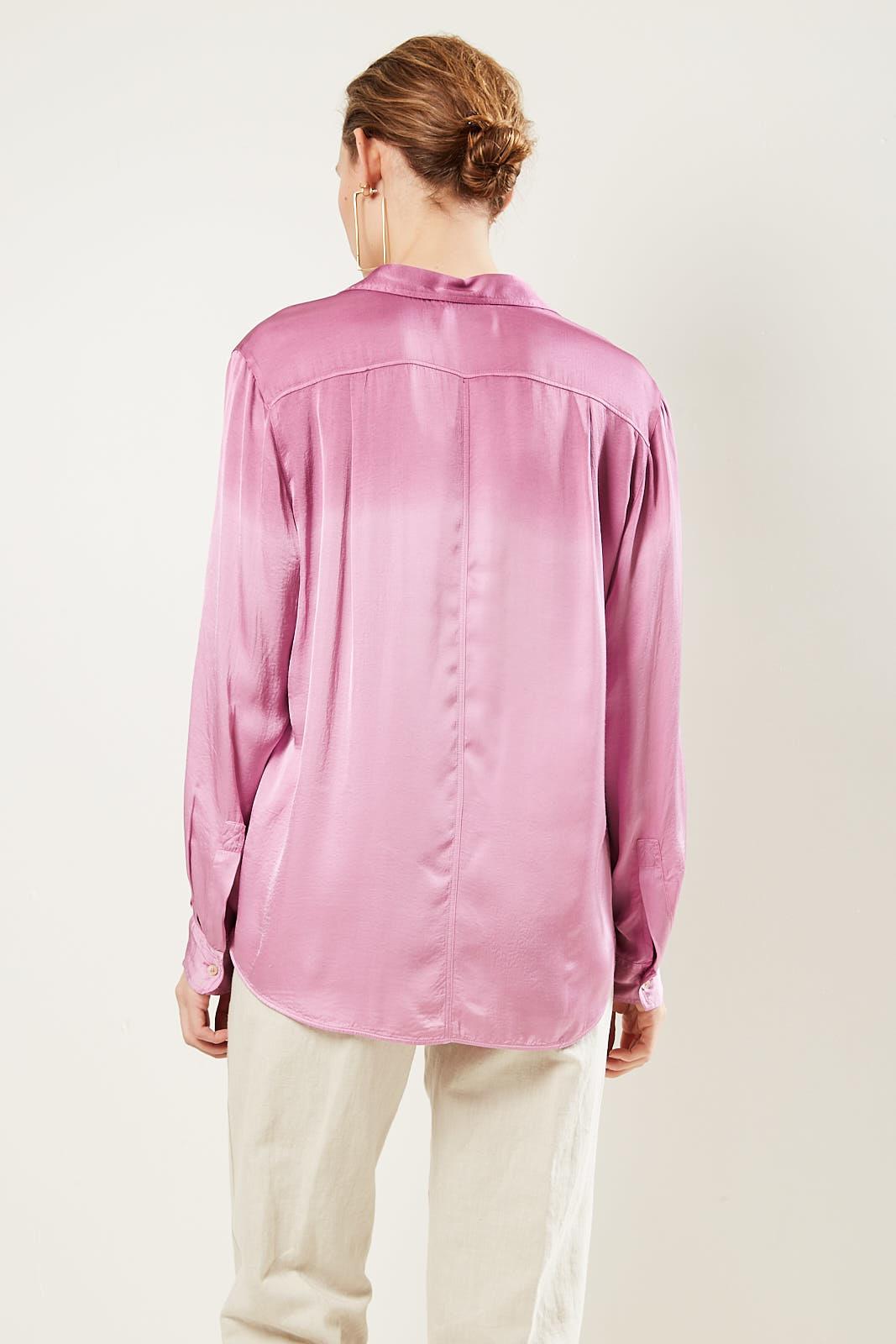 Forte Forte - Textured curved hem blouse.