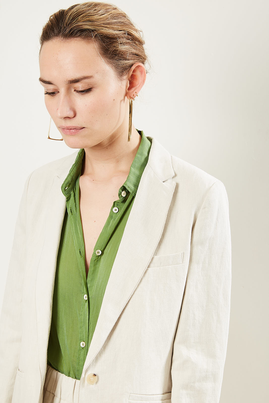 Forte Forte Fitted narrow lapel blazer.