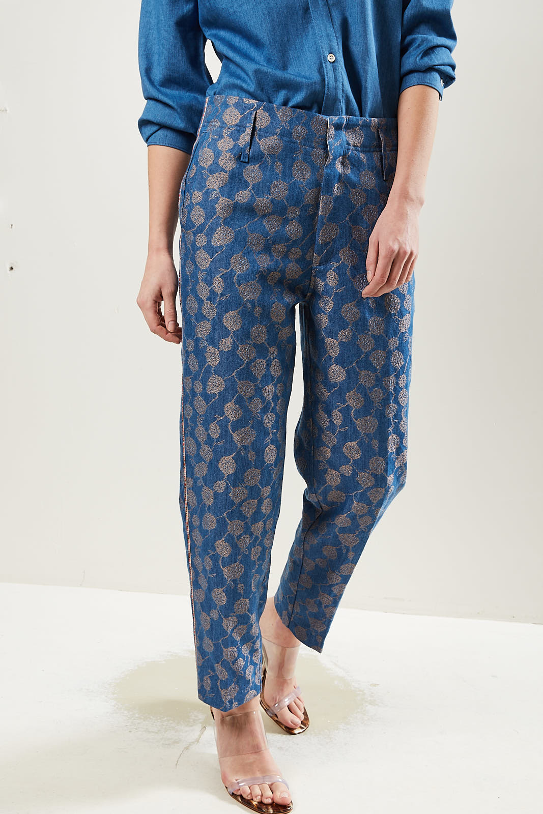 Forte Forte High waisted patterned trousers.