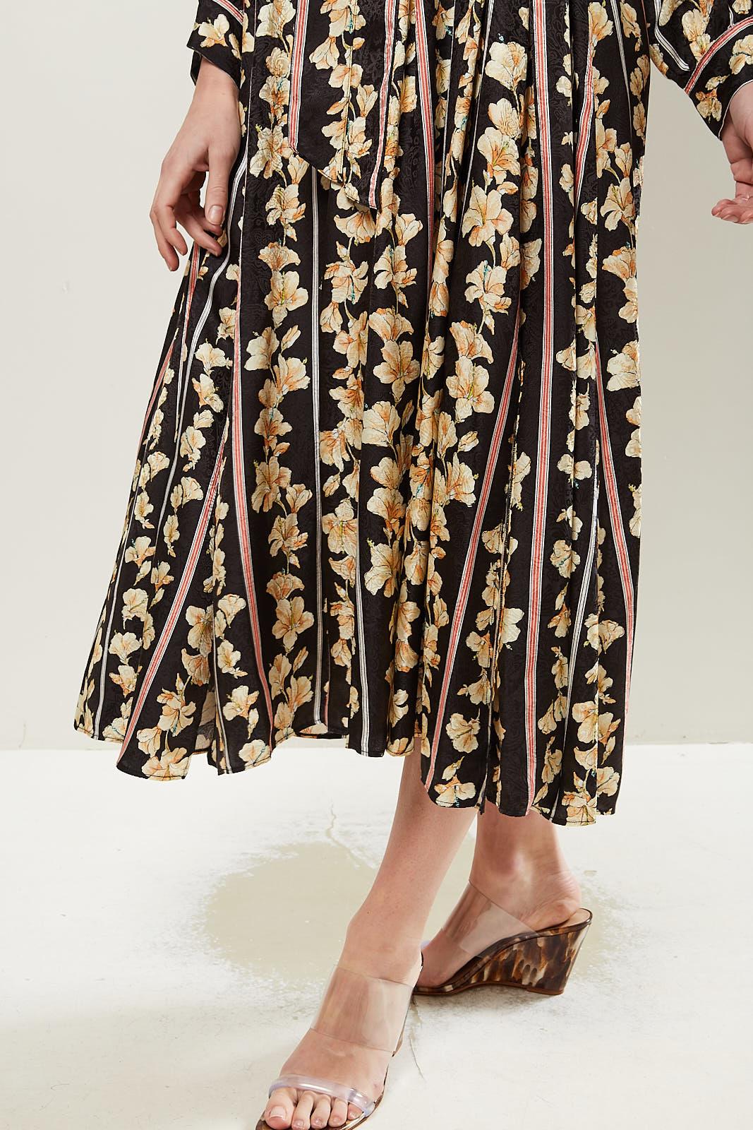 Forte Forte - Floral long sleeve midi dress.