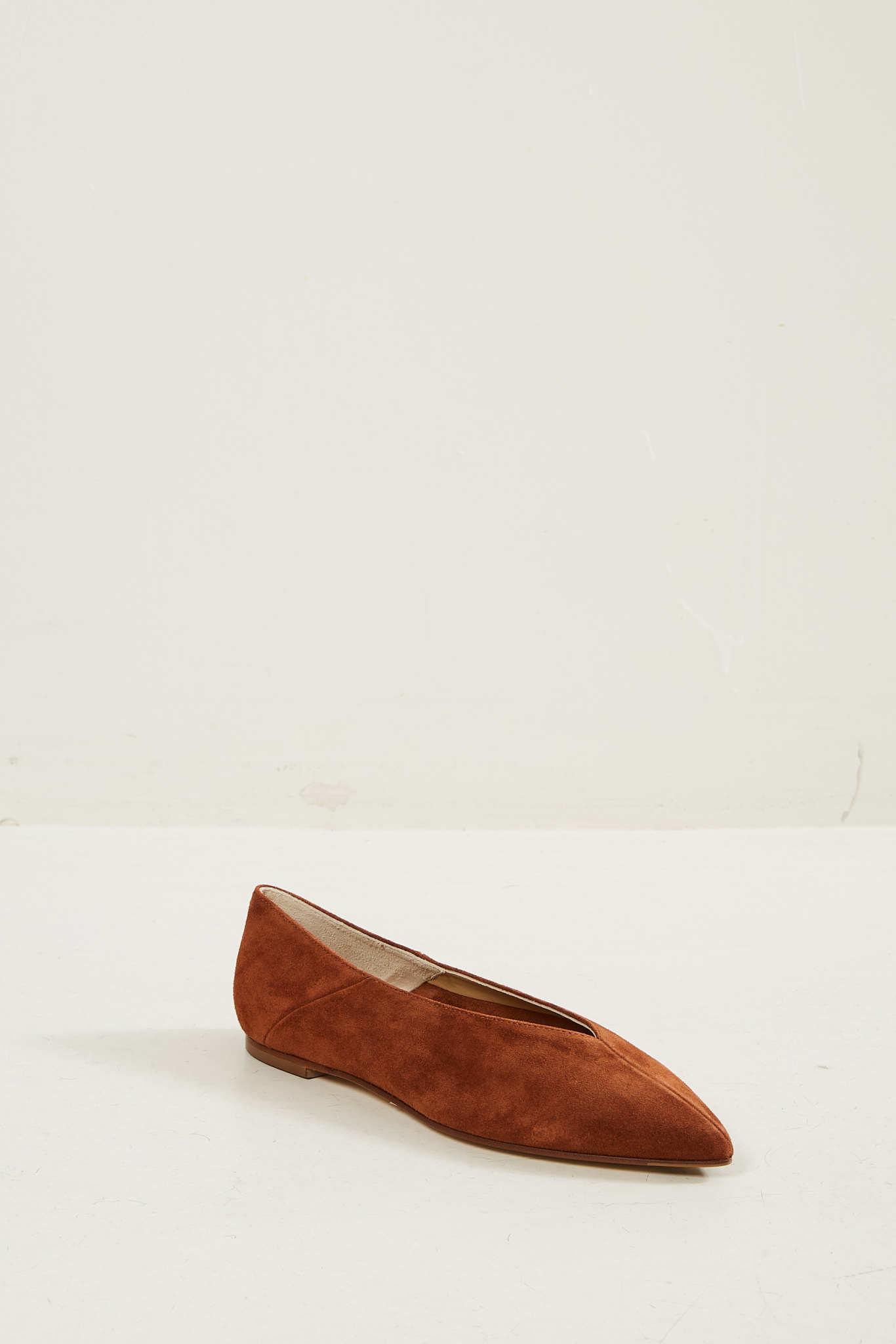 Aeyde Moa ballerina shoes.